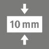 Celková hrúbka 10 mm