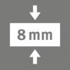 Celková hrúbka 8 mm